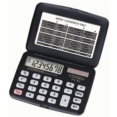 Калькулятор карманный Citizen FS-60 BK