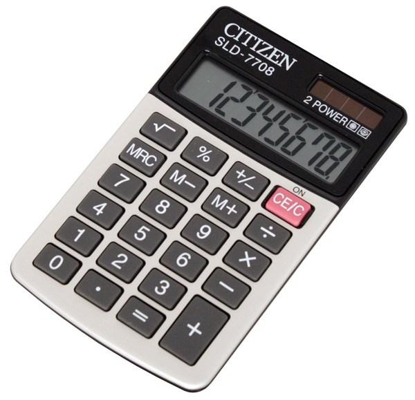 Калькулятор карманный Citizen SLD-7708