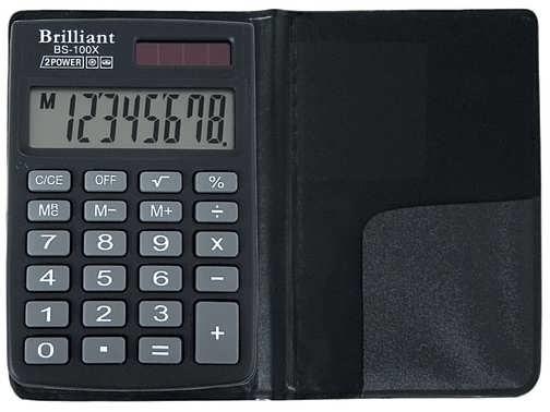 Калькулятор кишеньковий Brilliant, BS-100Х