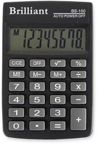 Калькулятор кишеньковий Brilliant, BS-100