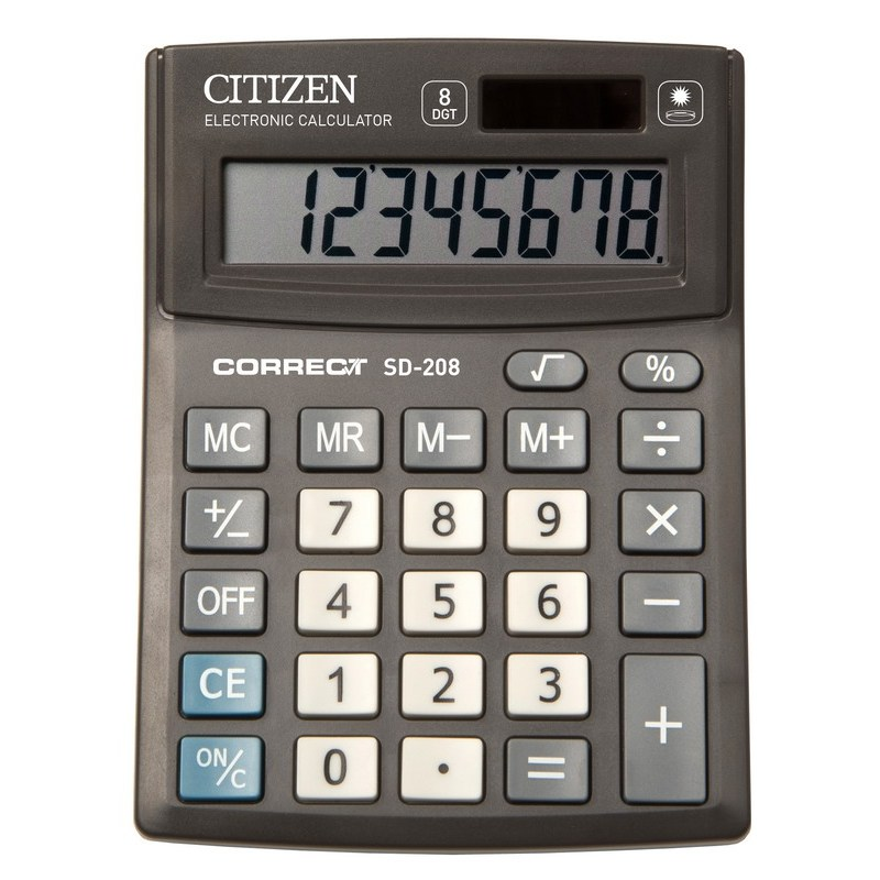 Калькулятор  Citizen Correct SD-208