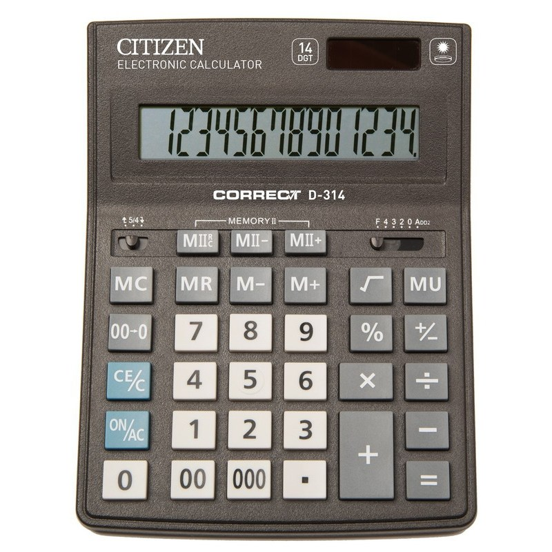 Калькулятор  Citizen Correct D-314