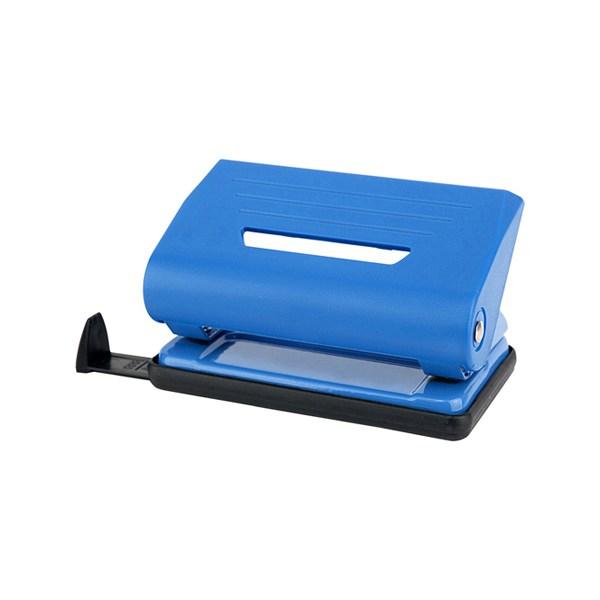 Дырокол пластиковый, 10лист, синий, Delta