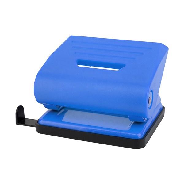 Дырокол пластиковый, 16лист, синий, Delta