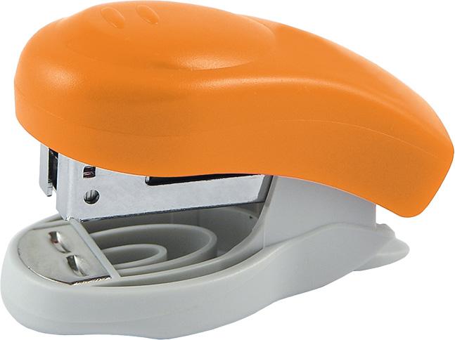 Степлер №24 mini Axent Welle-2, 10 листов оранжевый