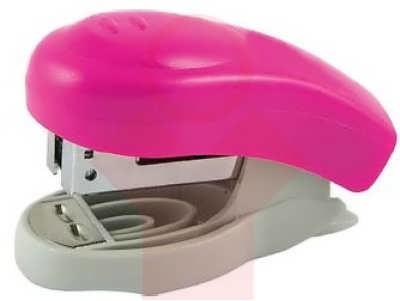 Степлер №24 mini Axent Welle-2, 10 листов розовый