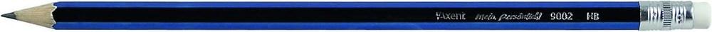 Карандаш чернографитовый, заточенный, с резинкой HB, покрытие цв. лак металлик