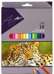 Карандаши цветные длинные Africa NEW 18 цветов