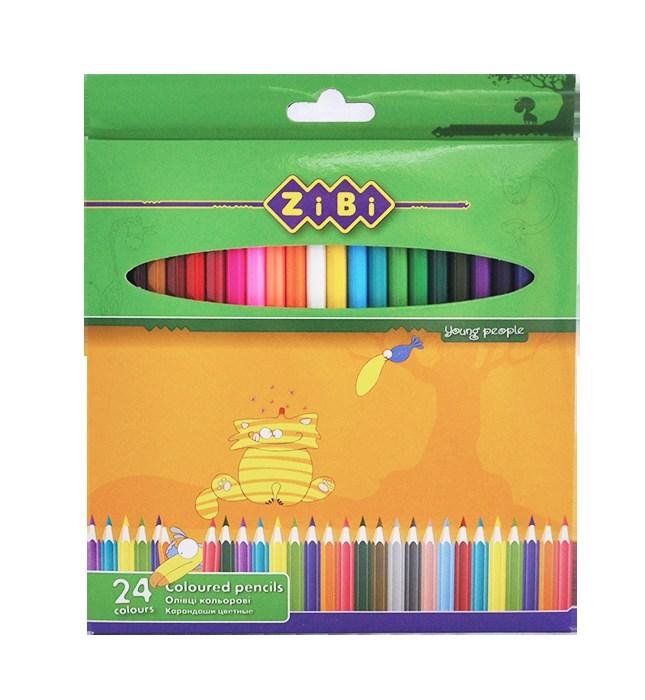 Карандаши цветные 24 цвета  , ZiBi