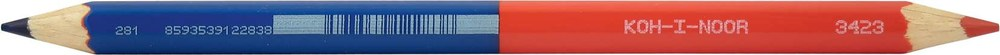 Карандаш сине-красный