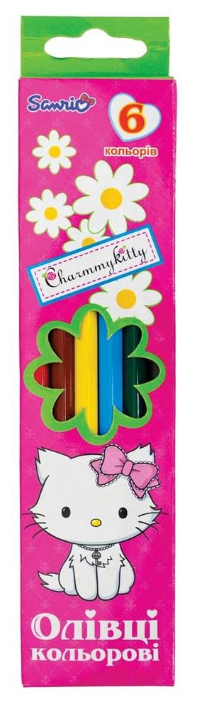 Карандаши цветные  6 цв. ДЕВОЧКИ