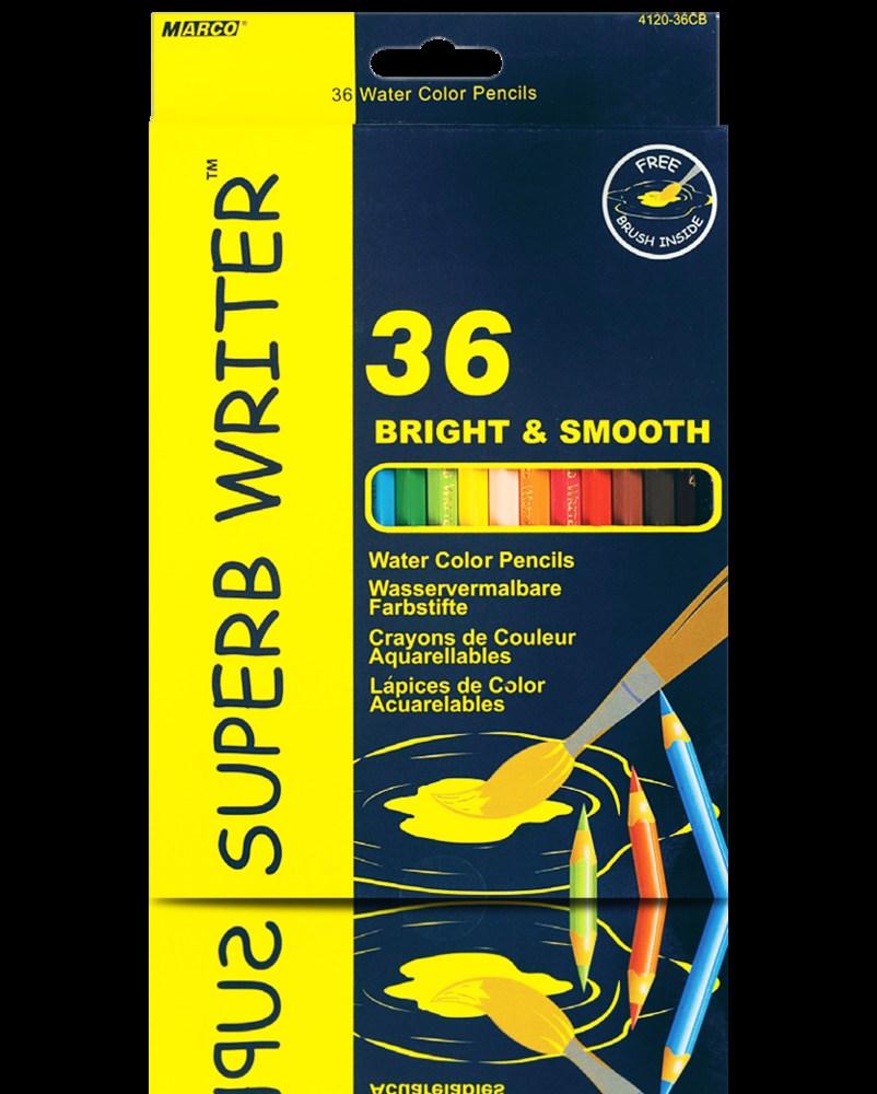 Карандаши цветные акварельные Marco Superb Writer 36 шт.