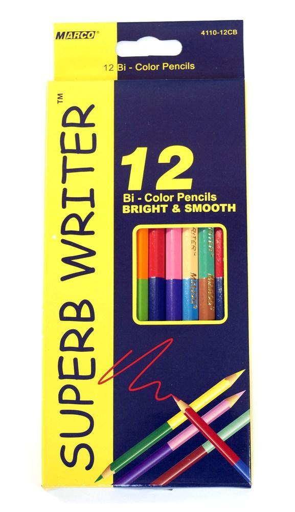 Карандаши цветные двусторонние Marco Superb Writer 12 шт.