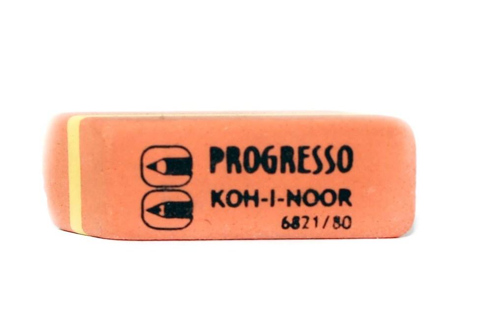 Резинка Progresso, карандаш-шариковая ручка