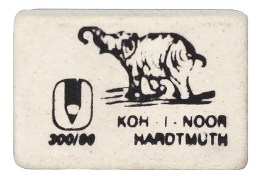 Резинка Koh-i-noor, чернографитовый карандаш