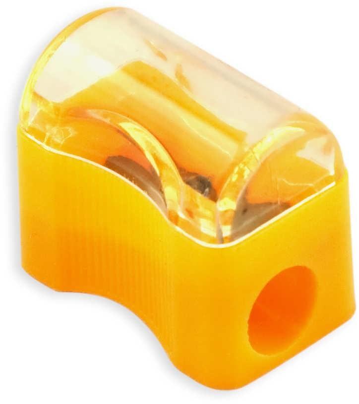 Точилка пластик с контейн., ассорти