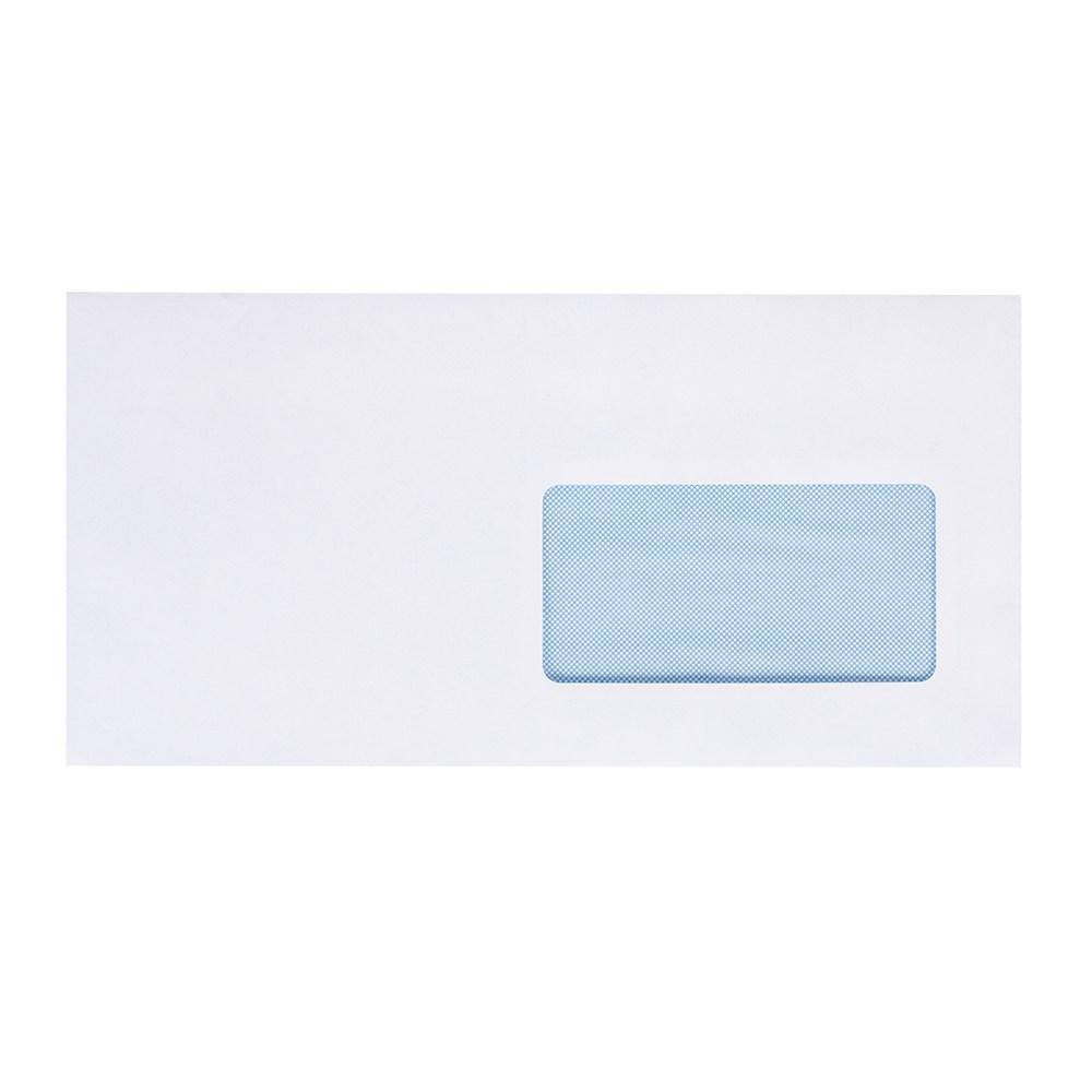 Конверт 220*110, белый, СКЛ, 0+1, кл. прямой,окно