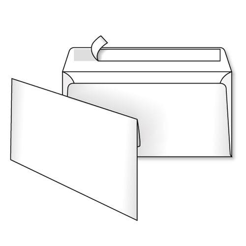 Конверт 220*110, белый, СКЛ, 0+0, кл. прямой
