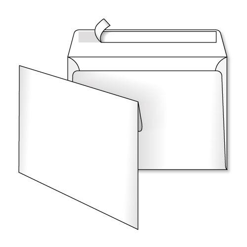 Конверт 229*162, белый, СКЛ, 0+0, кл. прямой