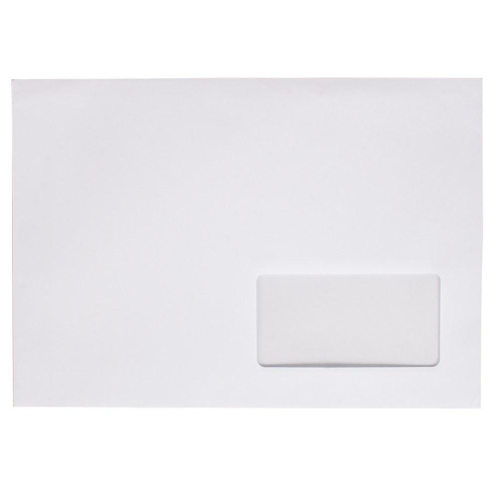 Конверт 229*162, белый, СКЛ, 0+0, кл. прямой,окно