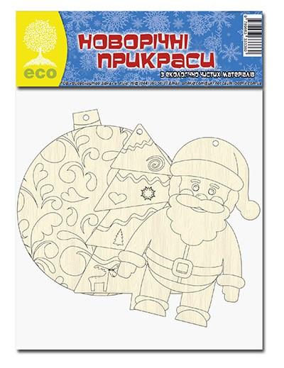Деревянные новогодние игрушки в ассортименте: 3 фигурки в наборе