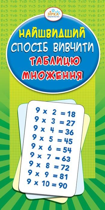 Изучение таблицы умножения. Пособие