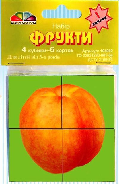 Кубики Фрукты випуск 1, 4 шт.