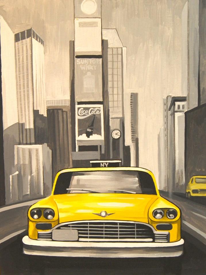 Полотно на картоні з контуром, Міста Нью-Йорк, 30*40, бавовна, акрил, ROSA START
