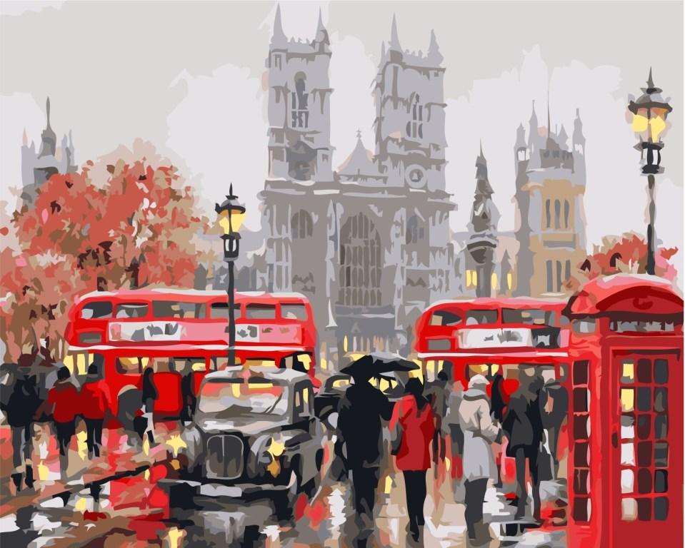 Картина по номерам / коробка, 40*50 Утро в Лондоне