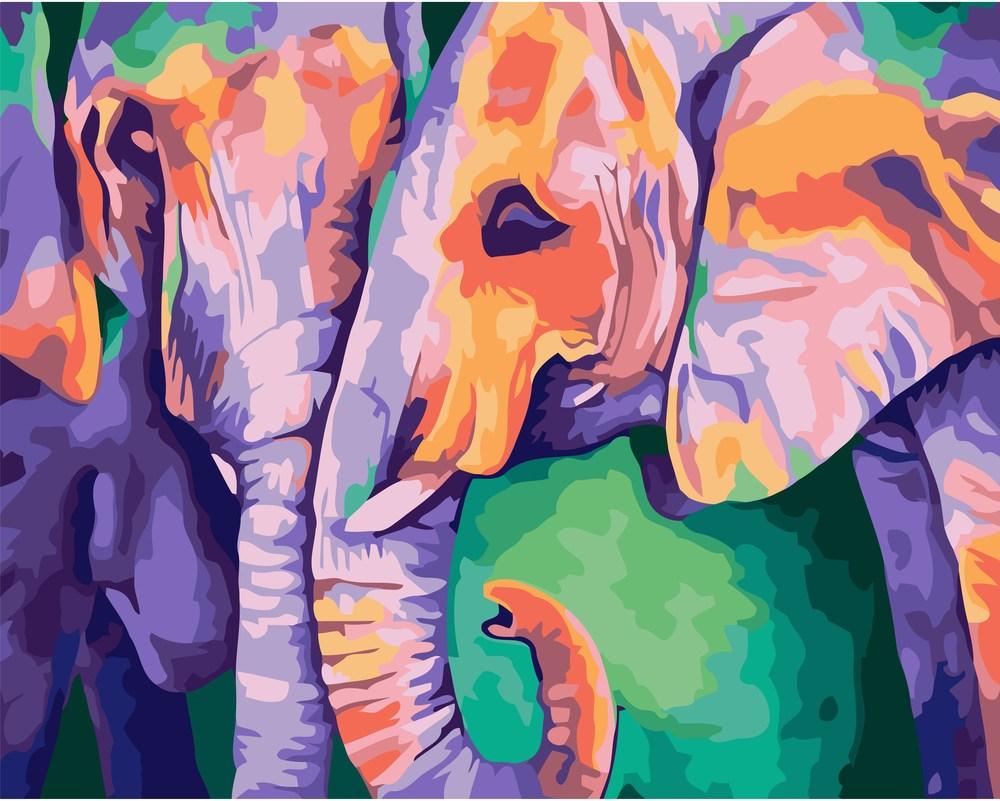 Картины по номерам/коробка. Животные, птицы . 40*50. Индийские краски