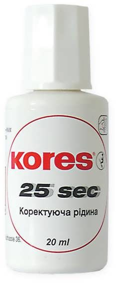 Корректор на спиртовой основе 25 секунд Kores 20 мл