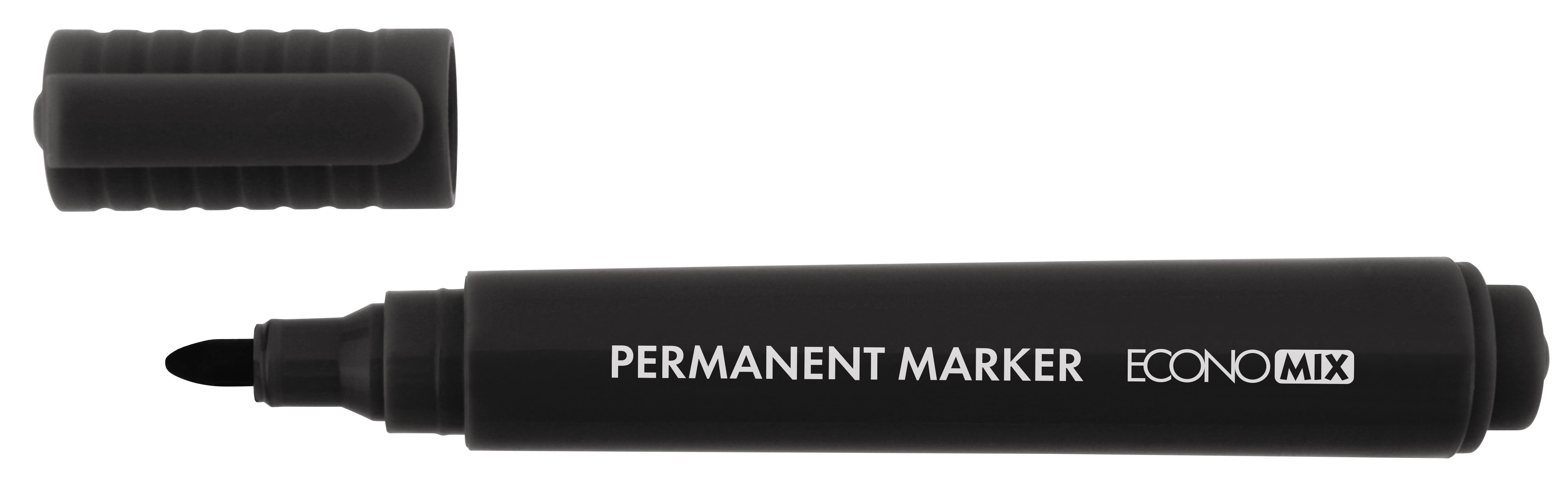 Маркер перманентный 1-3 мм Economix, черный