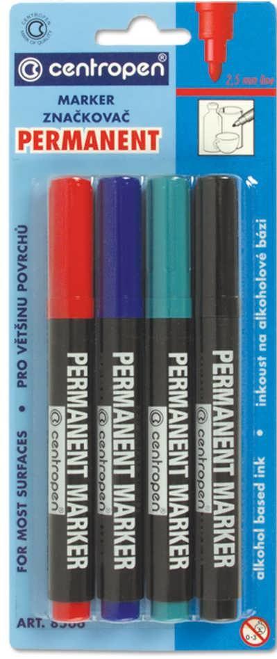 Набор маркеров Permanent 2.5 мм Centropen