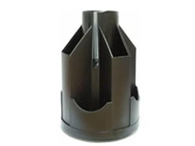 Подставка канц., черная, пластик, В21 Ракета