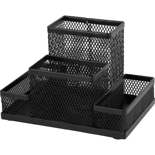 Подставка-органайзер 155x103x100мм металлическая, черный