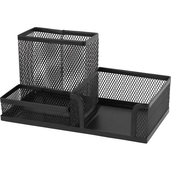 Подставка-органайзер 203x105x100мм метал., черная