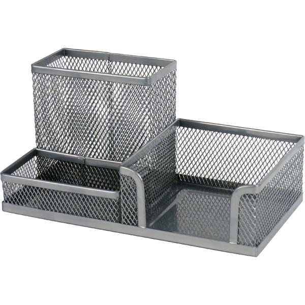 Подставка-органайзер 203x105x100мм метал., серебр.