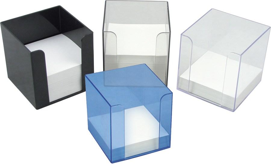 Бокс для бумаги синий  90x90x90 мм