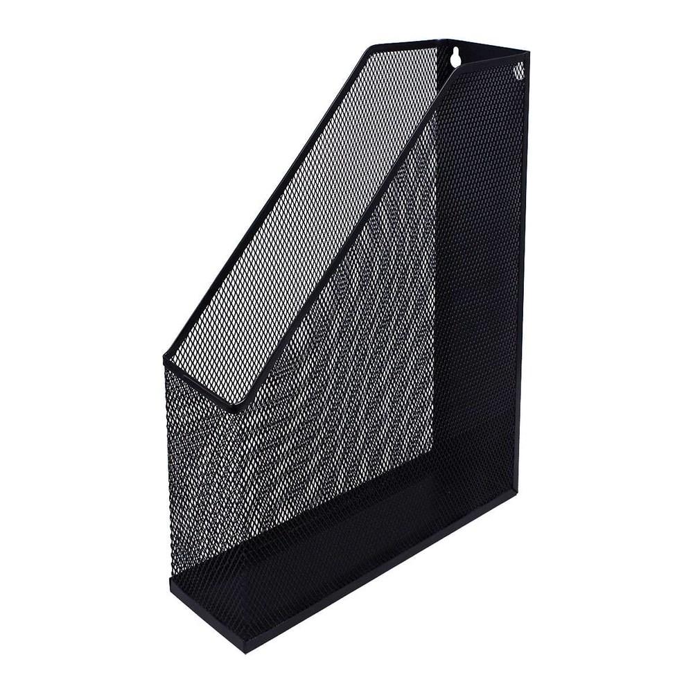 Лоток вертикальный, металлическая сетка, черный