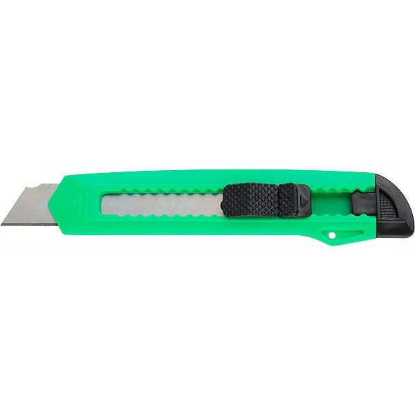 Нож канцелярский 18мм Delta, зеленый