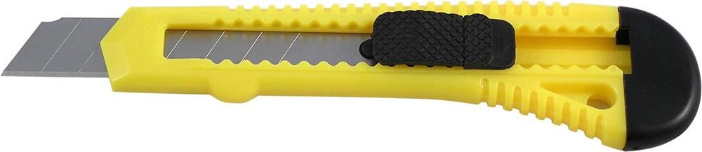 Нож канцелярский большой 18мм Delta, желтый