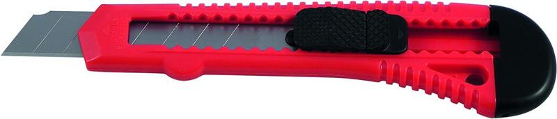 Нож канцелярский большой 18мм Delta, красный
