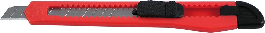 Нож канцелярский 9 мм Delta, красный
