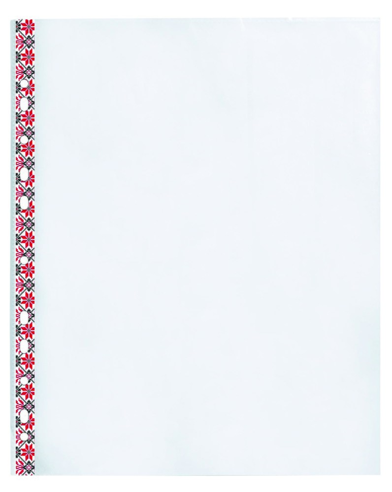 Файл-конверт A4+, гладкий, с цветным орнаментом, 20шт.