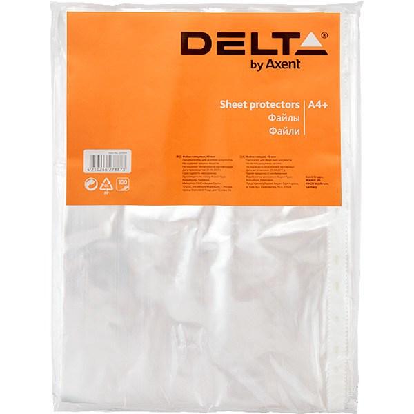 Файл-конверт А4+ Delta прозрачный, Эконом 100 шт