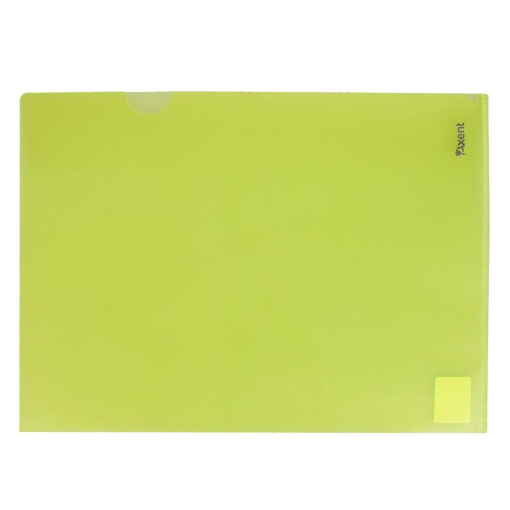 Файл-уголок Axent А4, желтый