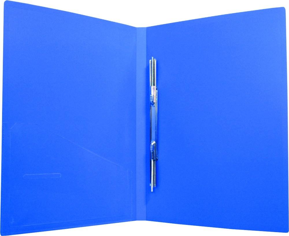 Папка с пружиной А4 пластик. CLIP A Light, с карманом, синяя