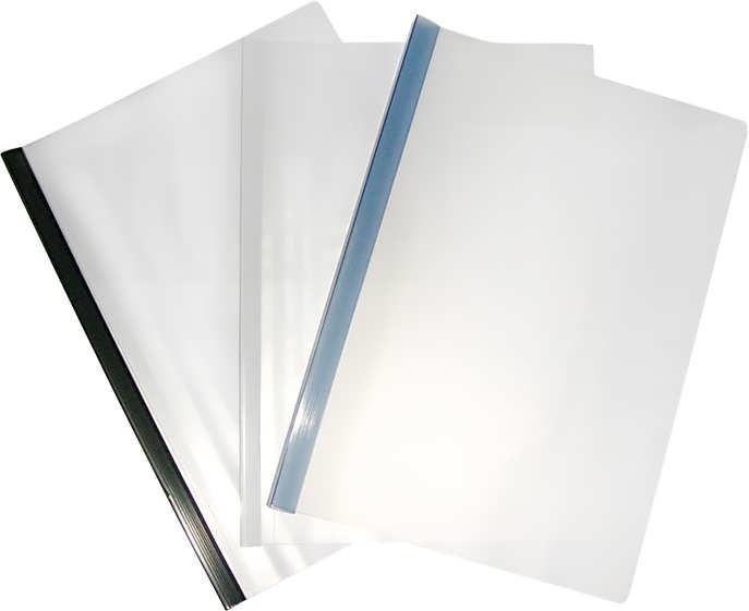 Папка прозрачная А4 с планкой-зажимом 2-35