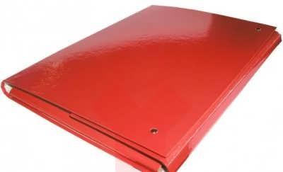Папка на липучках А4 ламинированный картон,красная