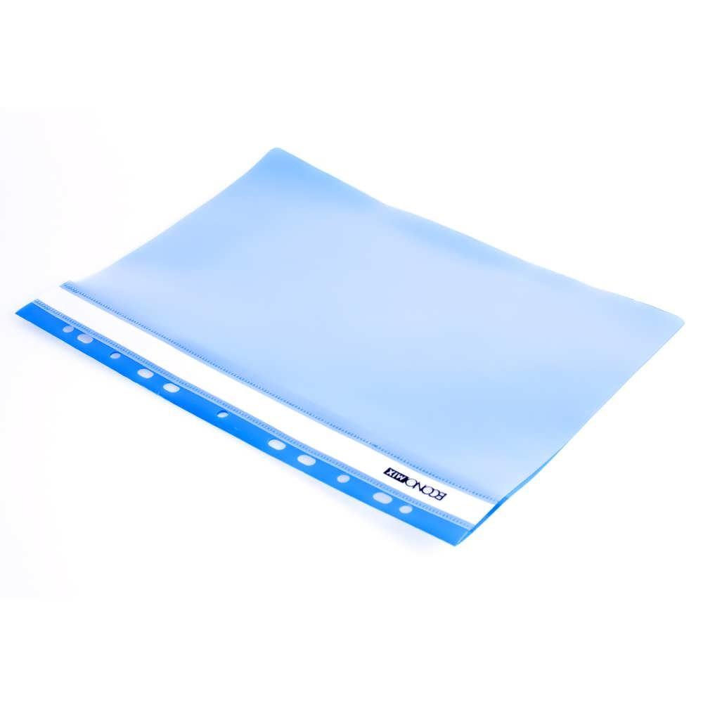 Папка-скоросшиватель А4 синяя, с перфор.,фактура апельсин